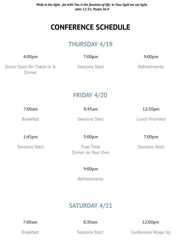 Schedule for Web